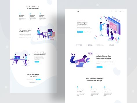 Business operation landing page