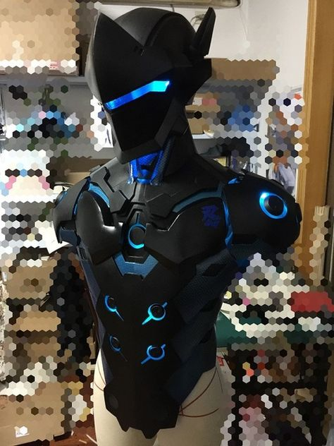 Overwatch Genji Carbon Fiber Skin Cosplay Armor Buy sold by OverCosplay. Shop more products from OverCosplay on Storenvy, the home of independent small businesses all over the world. Cosplay Armor, Cosplay Diy, Cosplay Costumes, Weapon Concept Art, Armor Concept, Sci Fi Weapons, Fantasy Weapons, Genji Overwatch, Body Armor