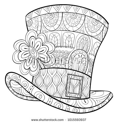Hat Outlines For 500 Hats Hat Hat Tied With Bow Coloring Pages Hat Tied With Bow Coloring Coloring Pages Fashion Coloring Book Summer Coloring Sheets