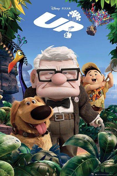 Poster Up Este Poster De La Pelicula Muestra A Los Personajes Clark Y Russell El Perro Dug A Kevin Y La Casa Vo Peliculas De Disney Peliculas De Pixar Pixar