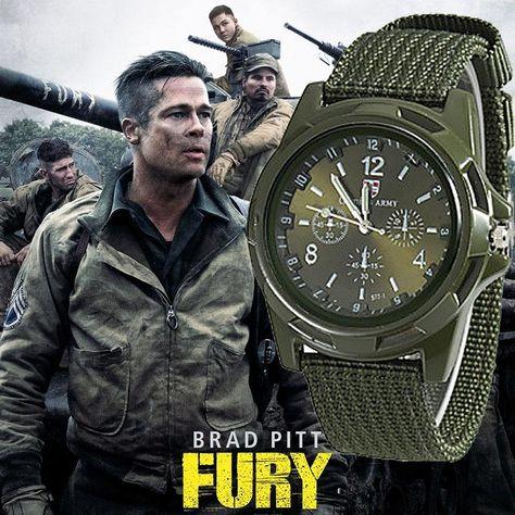 Men Nylon band Military watch Gemius Army watch High Quality Quartz Movement Men sports watch Casual wristwatches