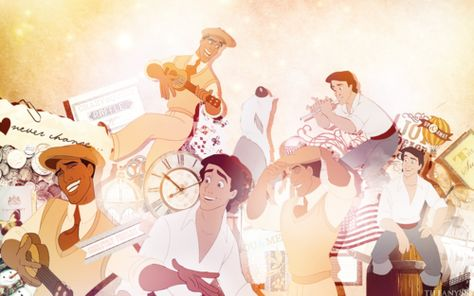 Walt Disney Characters Wallpaper: Eric and Naveen