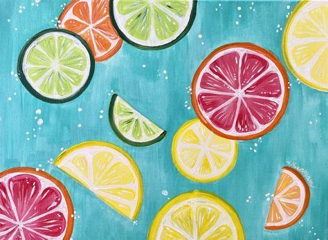 How To Paint Citrus Slices - Step By Step Painting