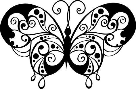 Pin Op Images De Papillons A Colorier