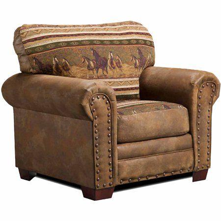 American Furniture Classics Wild Horses 4 Piece Set Walmart Com Lodge Chair Western Furniture Furniture