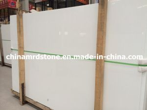 Hot Sale Pure White Crystallized Glass For Countertop Slab