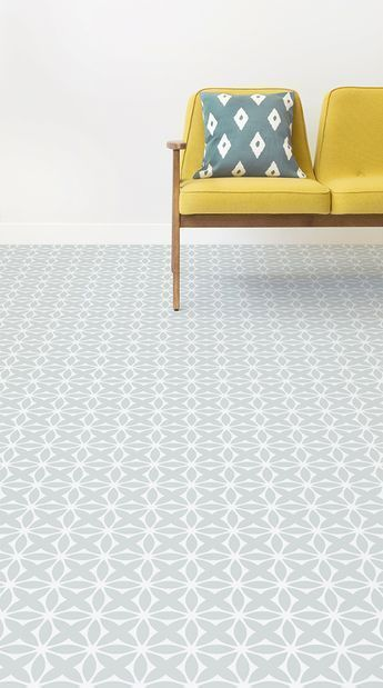 Darling Is A Delicate Retro Pattern Vinyl Pattern Design That Features Dainty Floral Shapes In A Charmin Vinyl Flooring Vinyl Flooring Kitchen Patterned Vinyl