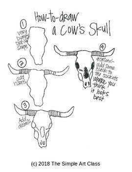 Art Lesson: Georgia O'Keeffe - Cow Skull Art Game | Art Sub Plans #artideas