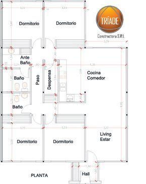 Vivienda De 4 Dormitorios 126m2 Construccion En Seco Planos De Casa De Campo Plano De Casa Casas Com 4 Quartos