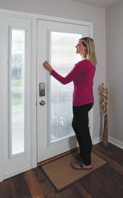 Add On Enclosed Door White Venetian Blind Patio Door Coverings Door Coverings Patio Door Blinds