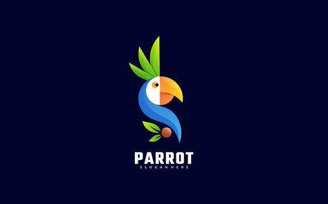 Parrot Gradient Colorful Logo Template