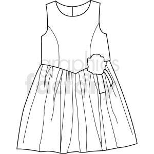 Black White Dress Vector Clipart Dress Vector Black White Dress Dresses