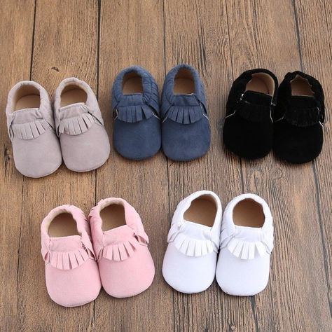 426de1d457 Soft Bottom Fashion Tassels Baby Moccasin