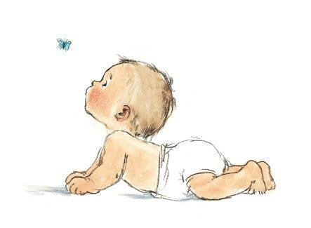 Baby Butterfly Www Baby Treehouse Com Baby Illustration Baby Drawing Cute Drawings