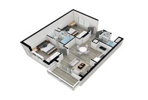 Do Your Amazing 3d Floor Plan Rendering Rendered Floor Plan Floor Plans Flooring