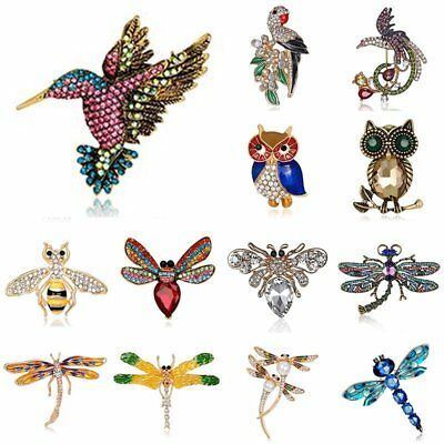 Fashion Crystal Bird Butterfly Animal Brooches Pins Womens Jewellery Gift New