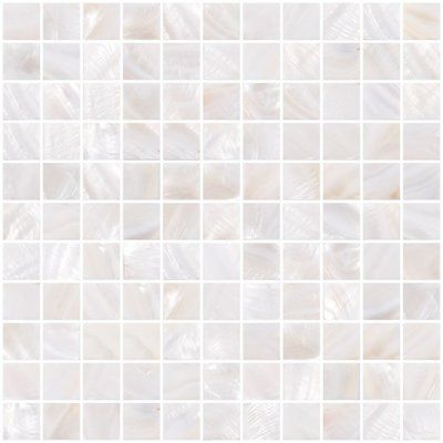 Susanjablon 1 X 1 Shell Mosaic Tile In White Shell Mosaic Tile Pearl Tile