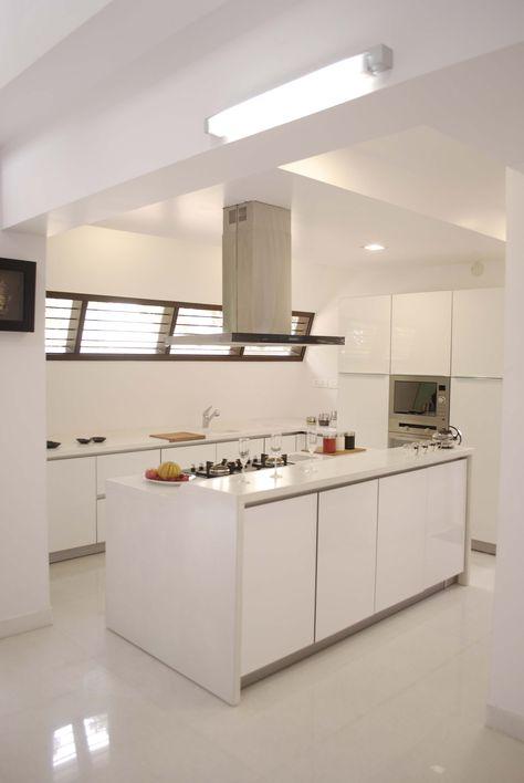 Modern white kitchen design by Architect: InFORM Architects ...