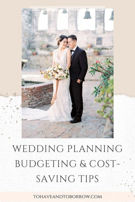 It's no secret that getting married these days will cost you quite a bit — about $30,000, to be exact! While it's hard to avoid all of the significant costs of getting married, it is possible to save yourself a few bucks here and there. Here are a few tips to help you have a beautiful wedding on a budget! #weddingplanning #budgetbride #weddingtips #weddingplanningtips #weddingbudget #weddingbudgeting