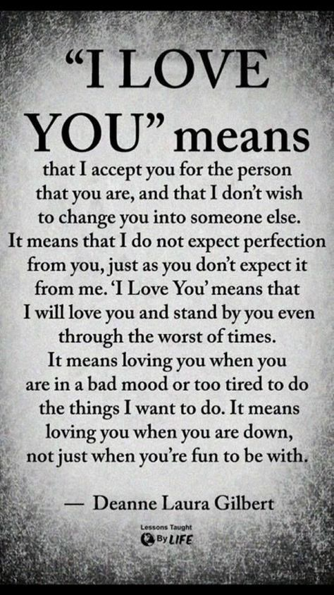 Quotes About Love : I love you means... | I love you means ...
