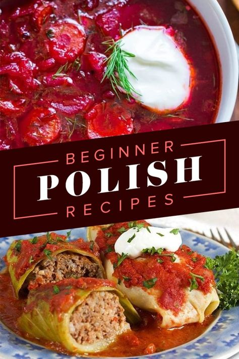 14 Delicious Polish Recipes That Are Actually Super Simple To Make 14 Easy Polish Recipes That Even Beginner Cooks Can Pull Off Easy Polish Recipes, Simple Recipes, Sauerkraut, Eastern European Recipes, Hunters Stew, Ukrainian Recipes, Ukrainian Food, Croatian Recipes, Hungarian Recipes