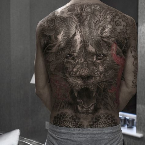 Awesome back tattoo art works done by tattoo artist Niki Norberg from Sweden