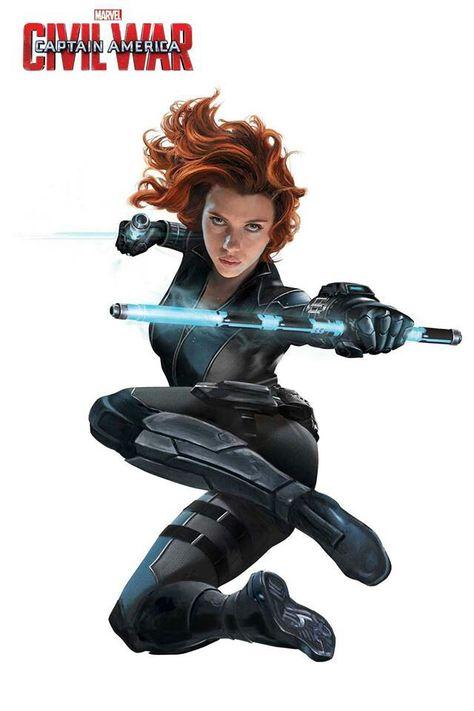 Black Widow Team Iron Man Civil War Kapita N Ame Rika