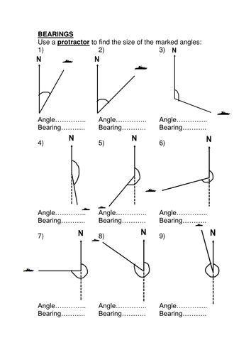 Bearings Starter Print Double Sided Docx Teaching Geometry Math Geometry Teaching