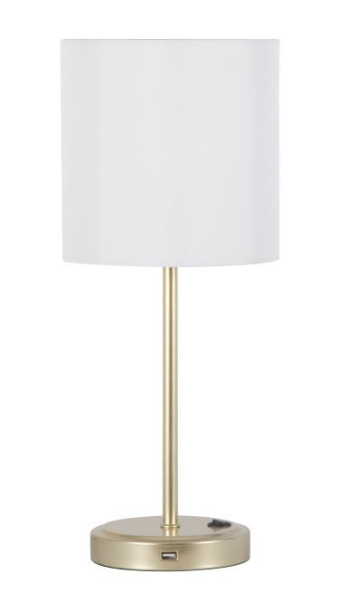 Mainstays Gold Metal Grab And Go Stick Lamp With Usb Port Walmart Com In 2021 Night Table Lamps Modern Gold Table Lamps Lamp