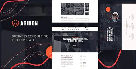 Abidon - Business Consulting PSD Template. Preview