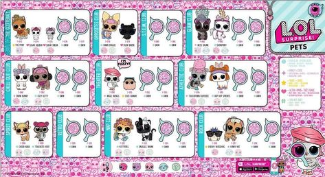 L O L Surprise Series 4 Collector Poster Pets Lil Sister Lolsurprise Lol Surprise Doll Collectlol Collect Collection Toy Bamboline Lol Idee