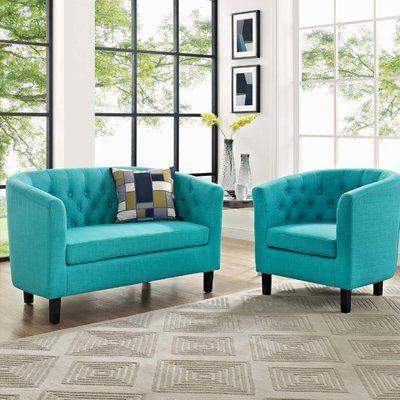 Zipcode Design Wilbur 2 Piece Living Room Set Wayfair Luxury Furniture Living Room Quality Living Room Furniture Living Room Sets
