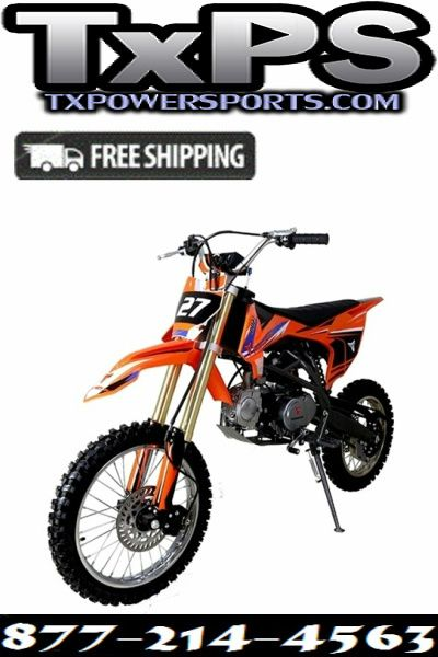 Taotao Db27 125cc Off Road Dirt Bike Kick Start Air Cooled 4