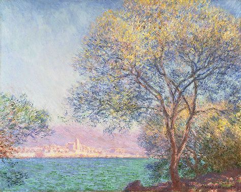 """ Claude Monet - Morning at Antibes (1888) """