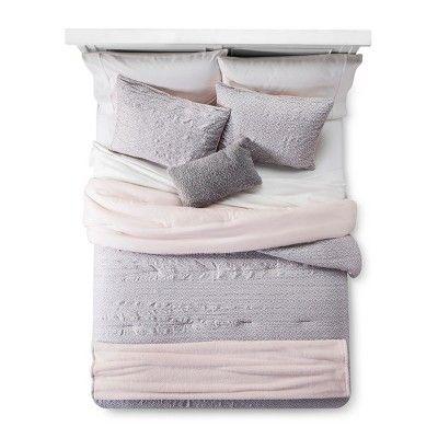 Blush Geo Lattice Comforter Set 5pc Full Queen Room Essentials Target Comforter Sets Target Bedding Target Bedding Sets