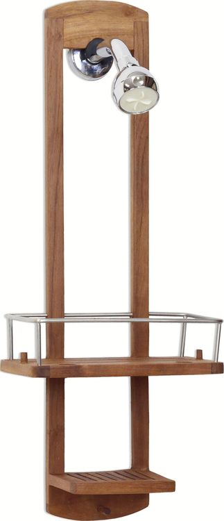 The Original Moa Small Teak Shower Caddy Teak Shower Teak Bathroom Teak Bathroom Accessories