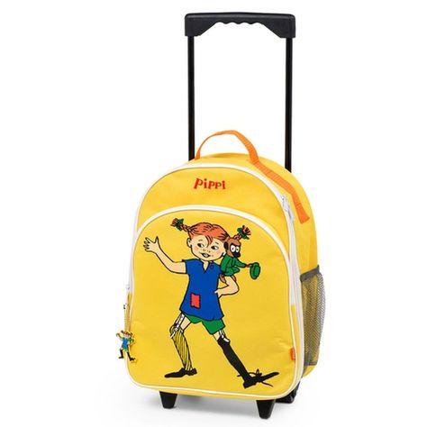 Pippi Langstrumpf Trolley Tasche mit Rädern und Pippi Motiv gelb in Reisen, Reisekoffer & -taschen, Kinderkoffer & -gepäck | eBay