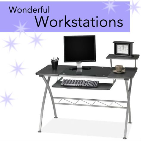 Sweet & Sleek. Brought to you by Shoplet.com- Everything for your business.   http://www.shoplet.com/Mayline-972-Vision-Computer-Desk/MLN972ANT/spdv