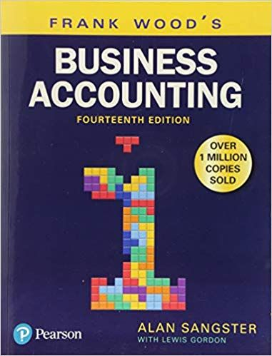 Frank Wood S Business Accounting Volume 1 14th Edition Ebook