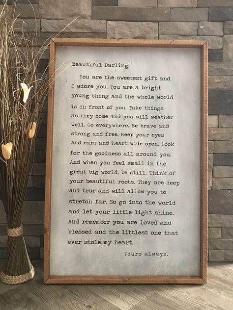 Beautiful Darling Quote Sign Beautiful Darling Framed Wood | Etsy