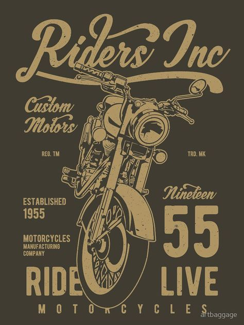 Riders Inc Custom Motors Motorcycle Vintage T-shirt. Your choice is street style. Your fashion is a funny t-shirt, hoodie, shirts. The best gift is cool street clothes! Do online shopping where there is a sale of streetwear with exclusive design. Stylish merch - custom apparel for every day. Welcome to the T-Shirts Showcase @ShirtsBirds.