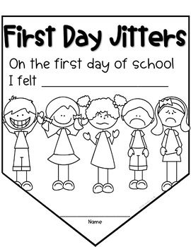 First Day Jitters Banner Back To Distance Learning School