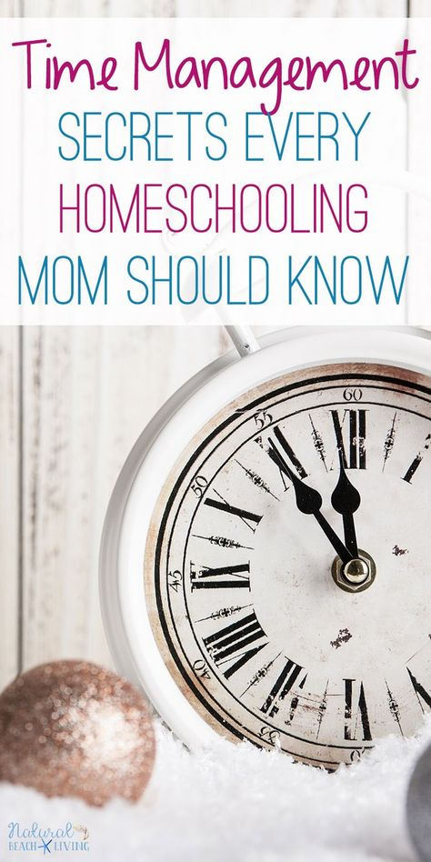 7 Time Management Secrets Every Homeschooling Mom Should Know - Natural Beach Living