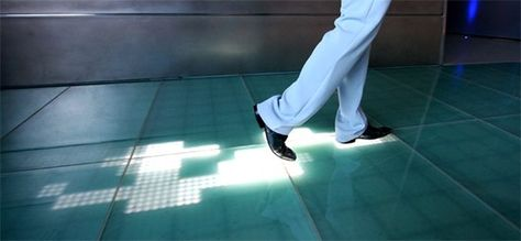 Video: Sensacell's interactive floor shows trail of LED footprints !