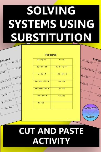 Solving Linear Systems with Substitution | All the Latest, Greatest