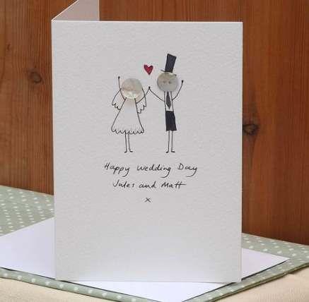 Wedding Card Handmade Buttons 52 Ideas