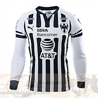 Casa Manga Larga Camiseta Monterrey 2018 2019 Blanco Uniformes ...
