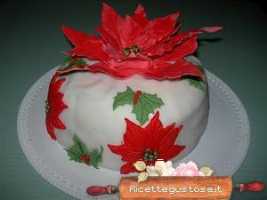 Stella Di Natale Pasta Zucchero.Pandoro Decorato Con Stella Di Natale In Pasta Di Zucchero