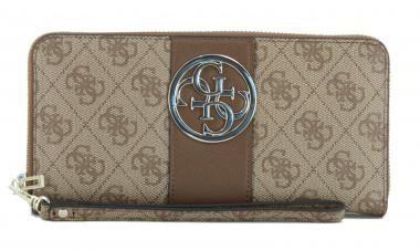 Geldbörse Logoprint Bluebelle Brown Guess braun Emblem 4G