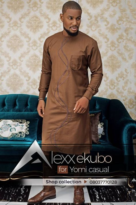 Nollywood Actor Alexx Ekubo Is Carving A Niche For Himself In The Nigerian Fashion Industry He Recentl Yomi Casual Nigerian Men Fashion African Attire For Men